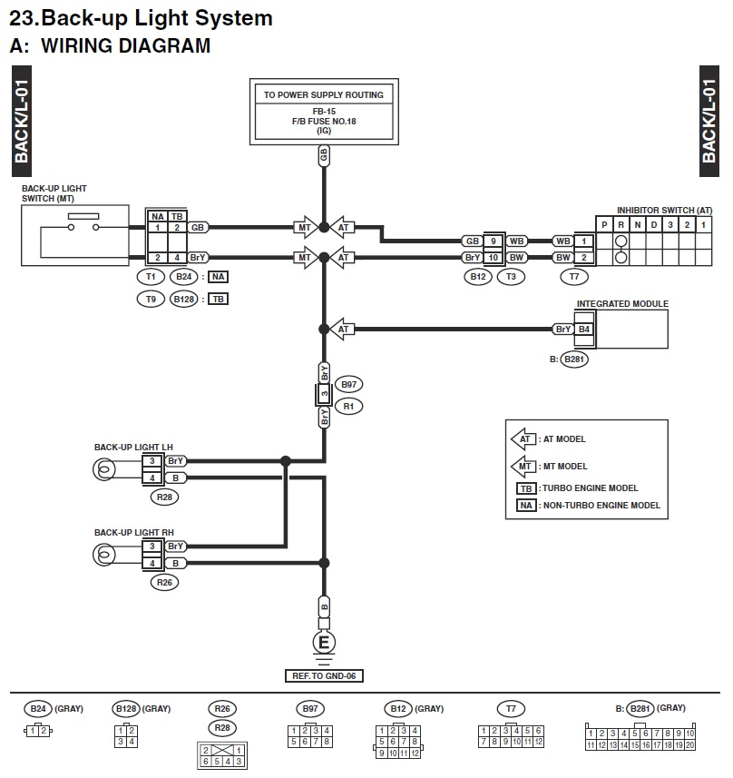 03-'05) - Back up / Reverse lights wiring diagram request - SOLVED! | Subaru  Forester Owners Forum | Wrx Light Wiring Diagram |  | Subaru Forester Owners Forum