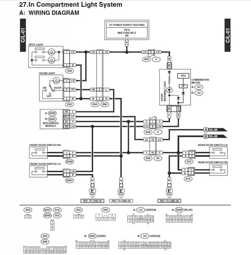 ('03-'05) Door Open Signal