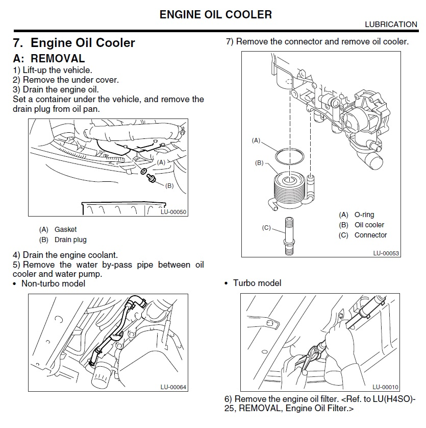 03-'05) Oil Cooler pipe -corroded & leaking, replacement? - Subaru on water cooler diagram, engine radiator diagram, engine rocker arm diagram, power steering cooler diagram, engine starter diagram, air cooler diagram, engine relay diagram, engine generator diagram, oil pump diagram, engine engine diagram, engine assembly diagram, engine head diagram,