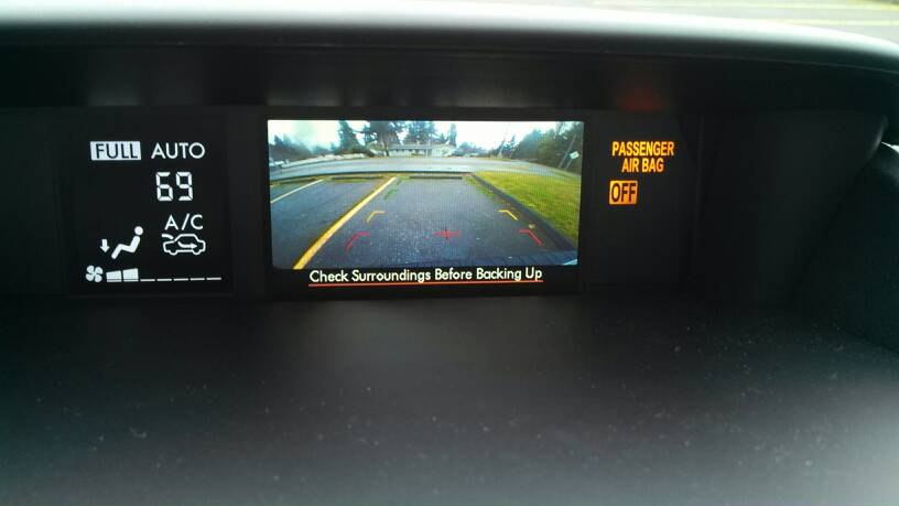 14-'18) - Guide Lines on rear view camera 2 5i premium