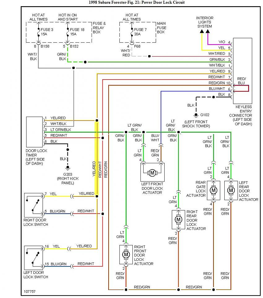2009 subaru forester wiring diagram all years  door lock and window control wiring question   merged  door lock and window control wiring