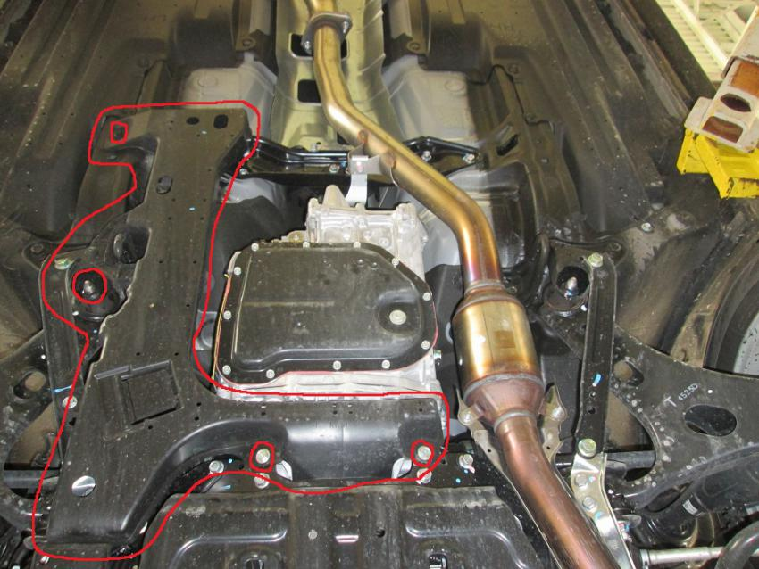 Forester Oil Change Rear Diff Guard