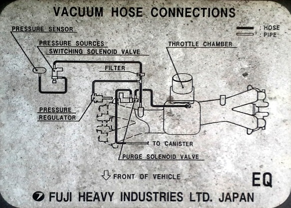 98 \u002700) 99 forester unidentified vacuum hose after headvacuum hose connection diagram from