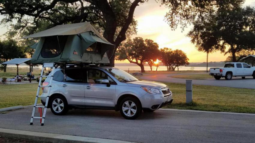 Click image for larger version Name 20170514_064501_1496791454712.jpg Views 1669 Size 72.8 & 14-u002718) Tepui roof tent on factory aero bars? - Subaru Forester ...