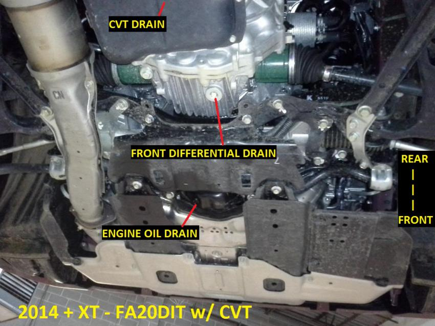 Oil drain plug location - Subaru Legacy Forums