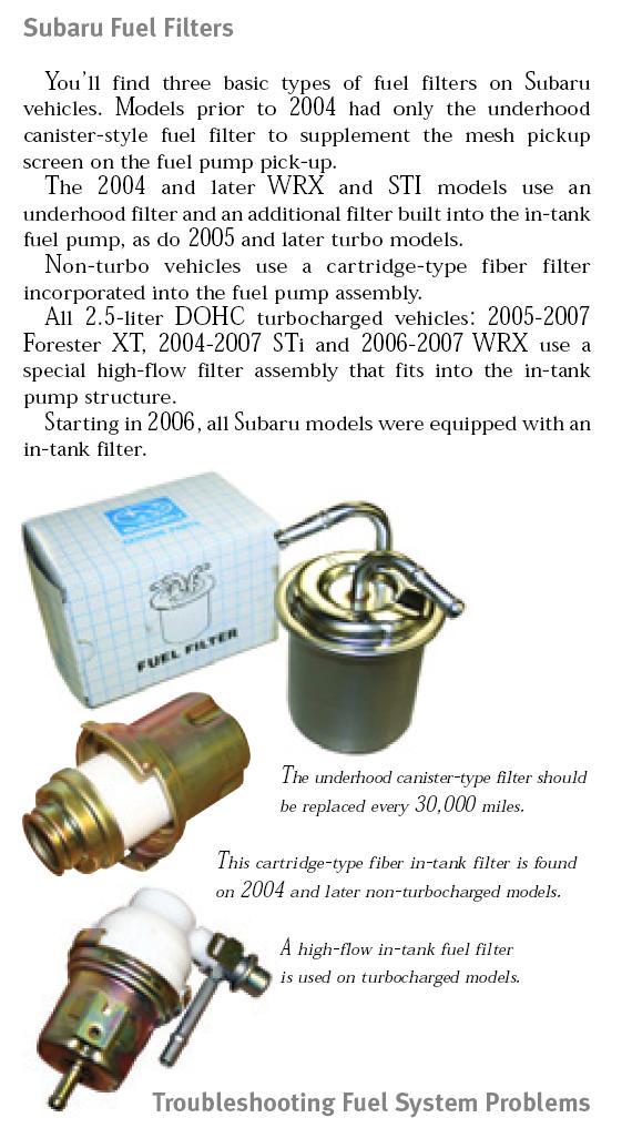 [ZTBE_9966]  Fuel filter location | Subaru Forester Owners Forum | 2007 Outback Fuel Filter |  | Subaru Forester Owners Forum