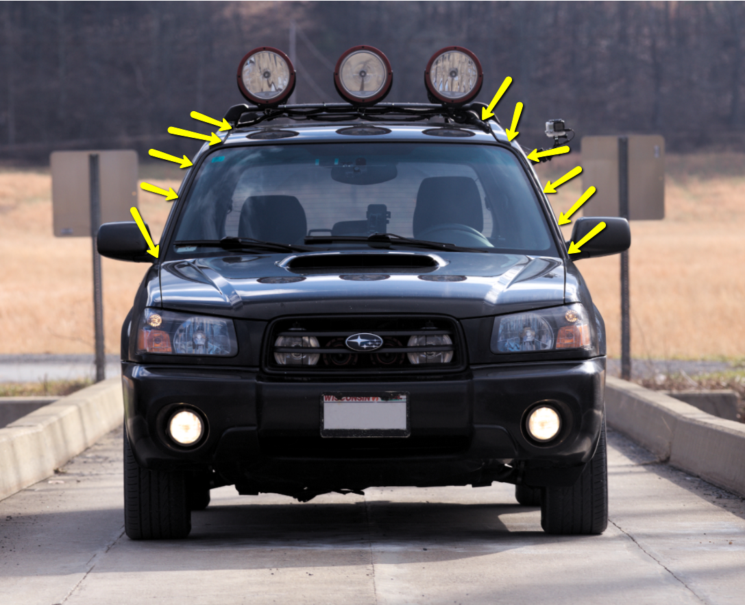 03 05 Where To Run Wires Through Roof Rack Rails Aux Lights Subaru Forester Owners Forum