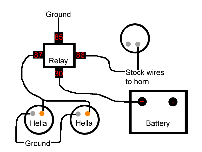 wiring diagram car horn relay wiring wiring diagrams online