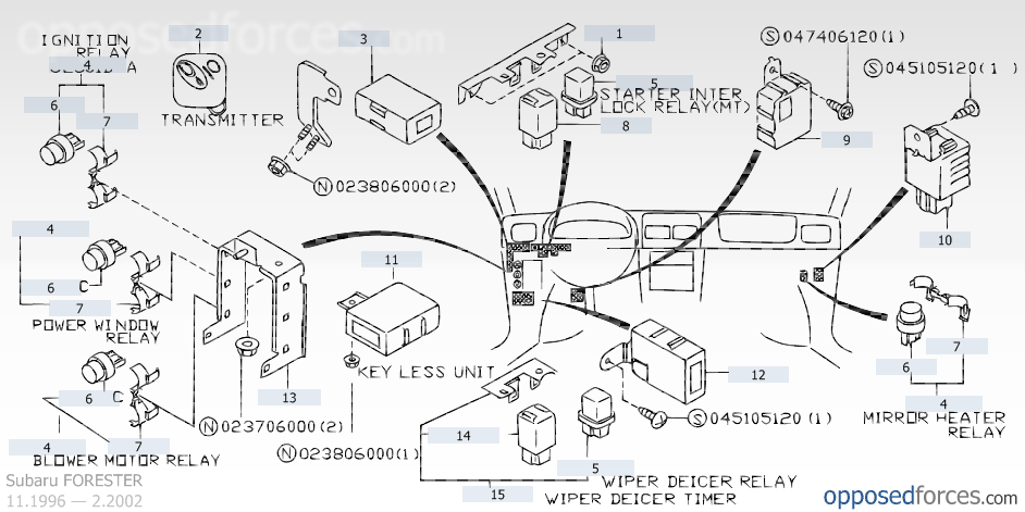 mirror heater relay_2002 subaru forester png