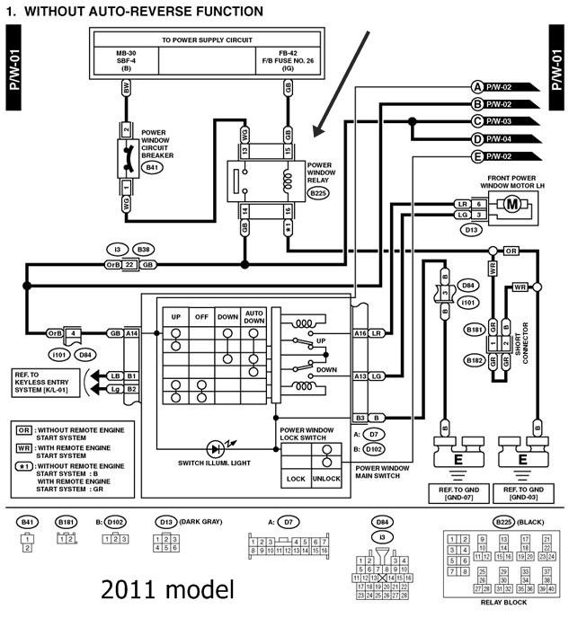Operate Windows When Dome Light Or Ignition Is On Subaru Forester Rhsubaruforesterorg 1999: 1999 Subaru Forester Dome Light Wiring Diagram At Submiturlfor.com
