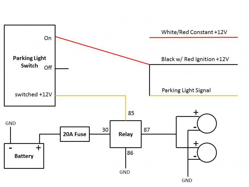03 '05) Using The Parking Light Switch For Aux Lights Subaru