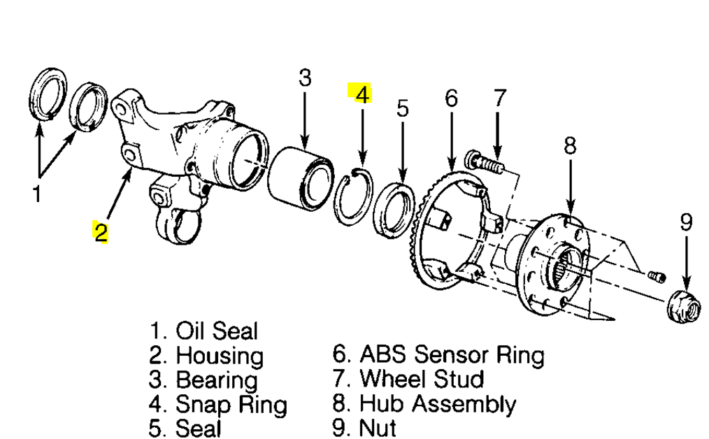 All years 03 05 step by step guide to rear wheel bearing rr rearbearingassyg sciox Gallery