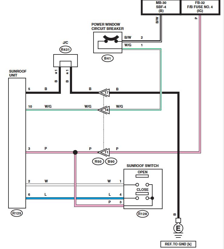 [SCHEMATICS_43NM]  14-'18) - Sunroof wiring diagram | Subaru Forester Owners Forum | Wiring Diagram For Sunroof |  | Subaru Forester Owners Forum