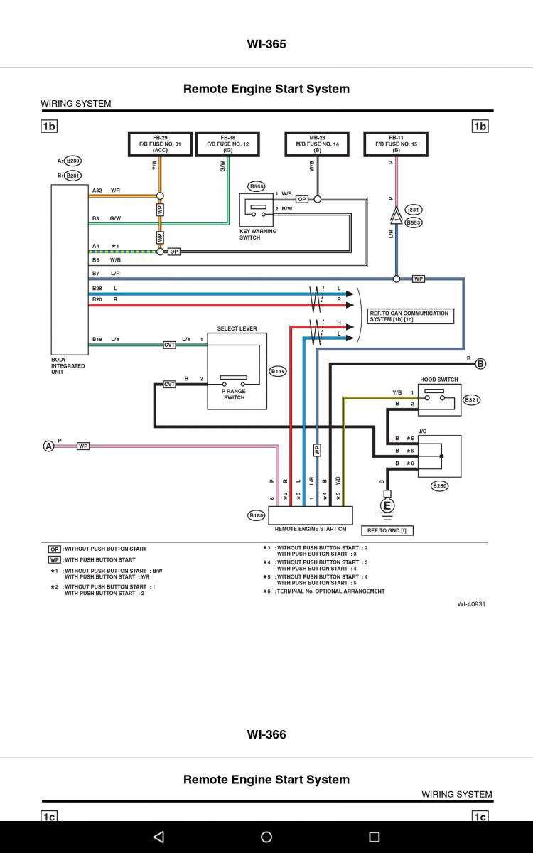 14-\'18) Installing Subaru Remote Start in european car - Subaru ...