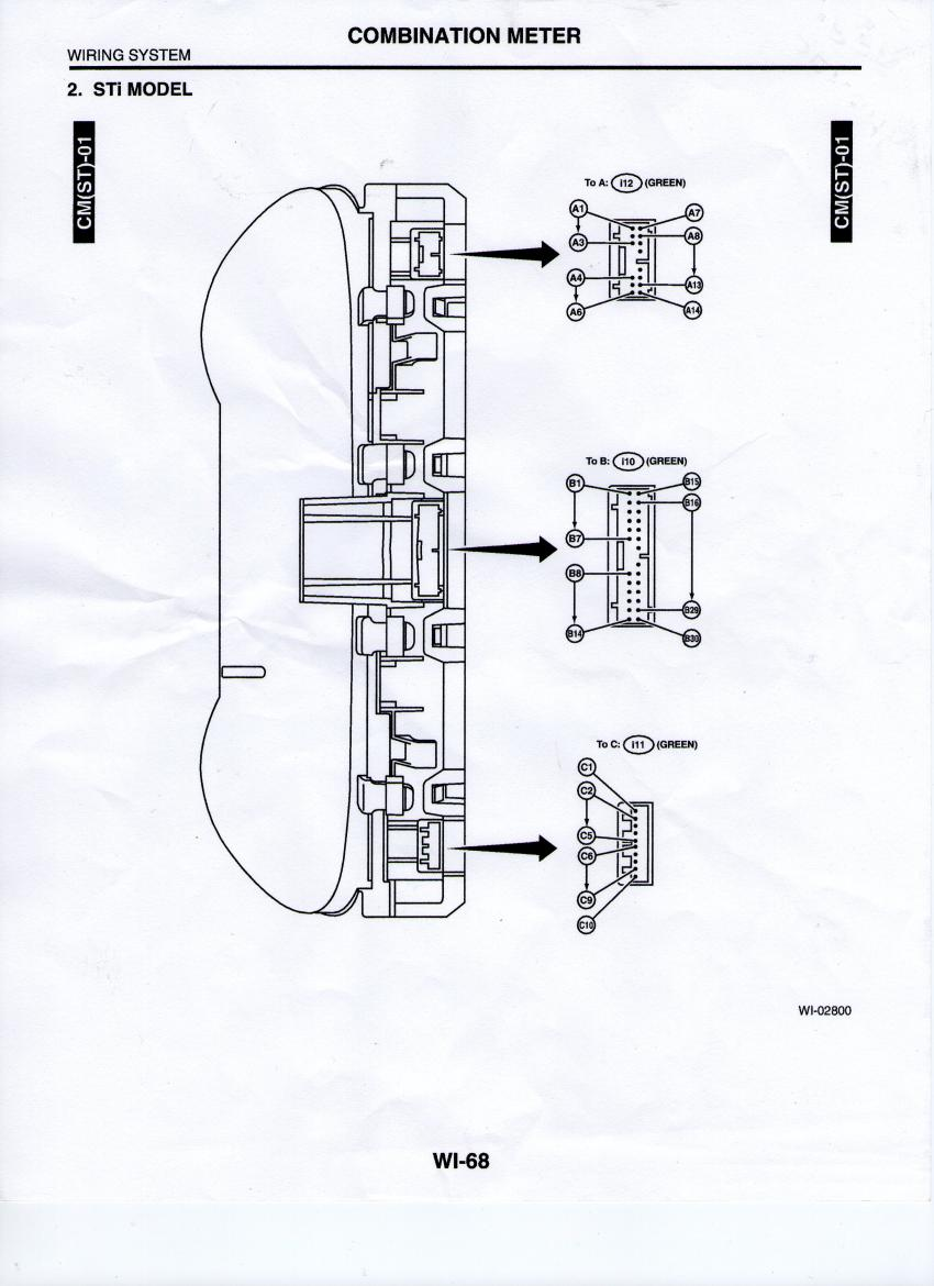 electric meter wiring diagram for cluster 03  05  05 sti cluster in 04 xt  wiring  subaru forester  03  05  05 sti cluster in 04 xt
