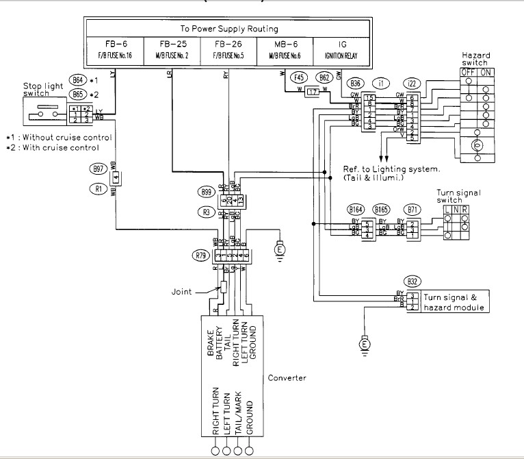 trailer wiring harness always hot? subaru forester suzuki x90 wiring diagram subaru forester trailer wiring diagram #1