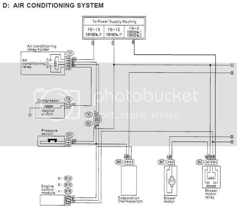2002 Subaru Forester Wiring Diagram Air Conditioner
