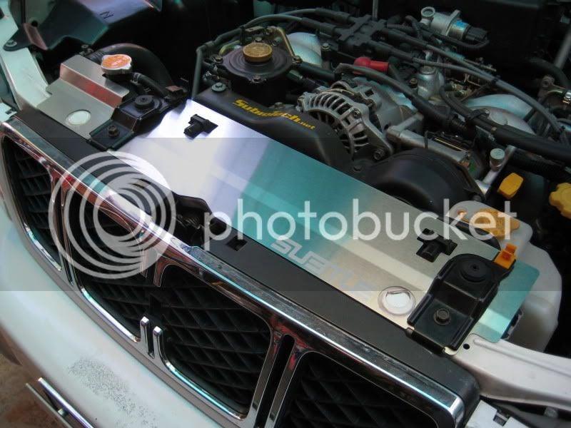 SUBTLE: (99-02) Forester - Radiator Shrouds (Brushed, Black
