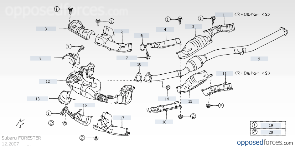 2009 Forester cylinder misfires and Catalytic Converter problems