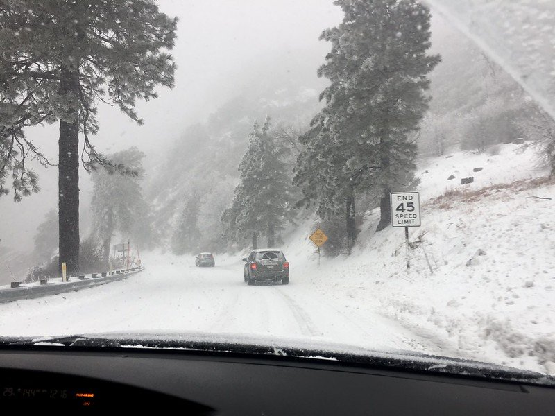 First time driving in snow, straight into a winter storm