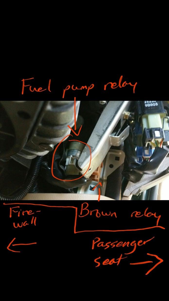 2000 Subaru Outback Fuel Pump Relay Location
