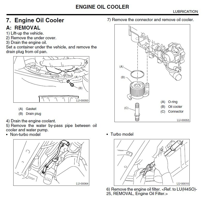 03-'05) - Oil Cooler pipe -corroded & leaking, replacement ... on