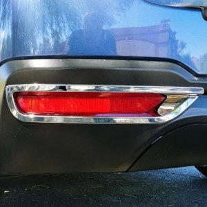 Chrome trim piece - rear reflectors