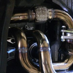 ebay exhaust with flex in uppipe
