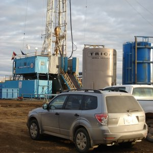 Drilling rigs in Western Canada