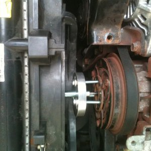 A/C clutch plate disaster