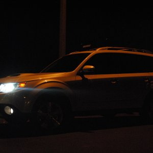 2013 white xt lines at night