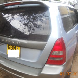 EJ20, 2004  made it to East Africa, Nairobi, from SA