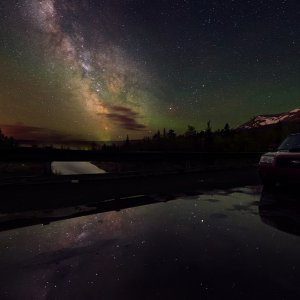Night sky photos with my Forester XT!