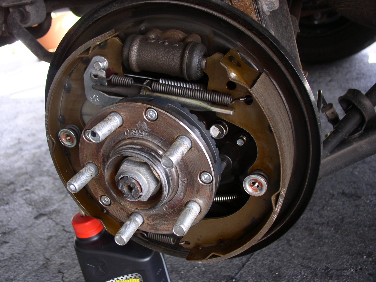 subaru drum brake diagram